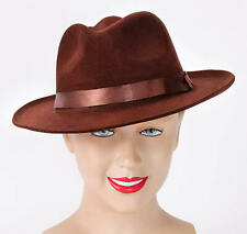 Brown Hat Fedora Gangster 1920s 1930s Freddie Burned Indiana Jones Costume