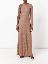 M Missoni One Shoulder Lurex Zigzag Knit Dress Size Large