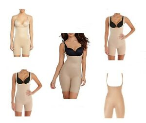 Spanx Silhouette Serums Open-Bust Red Hot Label Mid Thigh Body Shaper Size S NEW