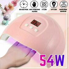 54W LED UV Nail Lamp Polish Dryer Gel Acrylic Curing Light Professional Spa Tool