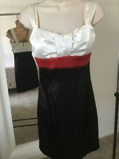 Windsor Size 5 Black White Red Color Block Junior Party Dress