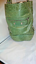 RARE BALENCIAGA DAY HOBO arena MOTORCYCLE BAG IN Green