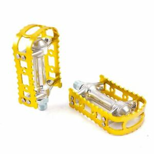 """MKS BM-7  Alloy Anodized 9/16"""" Pedals for MTB BMX Old School Flat Bike Pedal"""