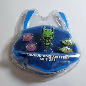 2011 Invader Zim MOC Gir Pig and Monkey Earbud Gift Set Nickelodeon