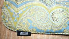 """Lovesac - Cerulean Majestic Weave Throw Pillow Cover w/Piping (24"""" x 24"""") New"""