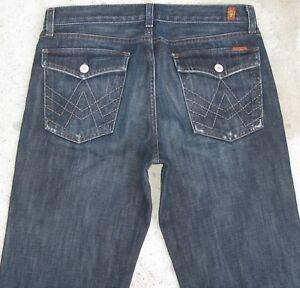 7 For All Mankind Klappe Taschen Bequemer Jeans Jungen Sz 16 Oder 31 X 31 100%