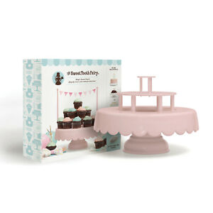 American Crafts Sweet Tooth Fairy Magic Sweet Cake Stand - Pink, 12 Pieces