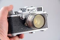 CAMERA ZORKI-3 with Lens Jupiter-8 1:2 F=50 Russian Leica Copy vintage Soviet.