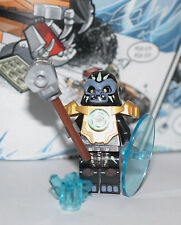 New LEGO Legends of CHIMA Gorzan w/ Hammer, shield, golden armor  & Chi