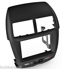 CT23MT08 MITSUBISHI OUTLANDER SPORT 2011 > BLACK DOUBLE DIN FASCIA ADAPTER PANEL