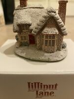 VINTAGE Enesco Lilliput Lane Ring 'O' Bells 1994 CHRISTMAS COTTAGE HOUSE SNOW