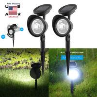 2X 4 LED Solar Garden Lamp Spot Light Outdoor Yard Path Lawn Landscape Spotlight
