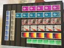 Netherlands nhm strips 1970's stamps all with 1 or 2 roll numbers rolzegels