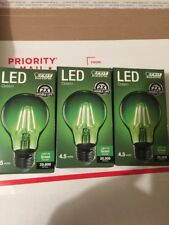 3x Green Light Bulb Feit Electric Green Decorative A19 LED Light Bulb Dimmable