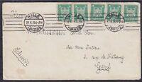 DR Mi Nr. 356 (5) MeF auf Auslandsbrief mit MAS Halle - Genf Schweiz 27.06.1925