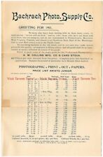1901 Bacharach Photo Supply Co 4 Page Brochure Baltimore Maryland