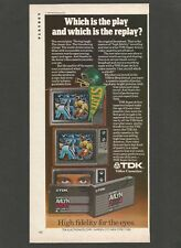 TDK Video Cassettes - High fidelity for the eyes - 1979 Vintage Print Ad