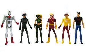 DC Young Justice League Atom Kid Flash Artemis Speedy Superboy Action Figure Set