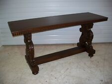 Beautiful American Oak  Winged Griffin Couch Table