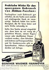 Pelikan Tusche Füller Reklame Kriegsjahr 1942 wasserfest Tinte Hannover Wagner