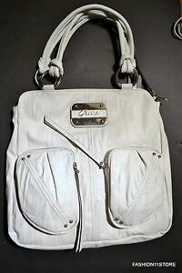 GUESS Regan Shopper Tote White Bag Handbag Sac Bolsa NWT