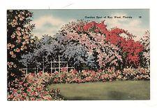 Garden Spot Key West Florida 1948 Vintage postcard
