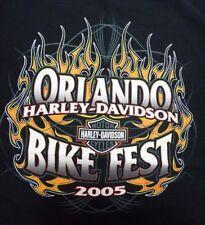Harley-Davidson 2005 Orlando Bike Fest Bike Week Florida - XL Black T-Shirt