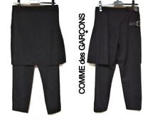 COMME DES GARCONS   RUNWAY BLACK WOOL  TROUSERS WITH SKIRT  PANTS S