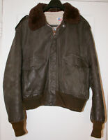 Vintage Schott G-1 Flight Bomber Leather Jacket Size 50 Rare Made in USA
