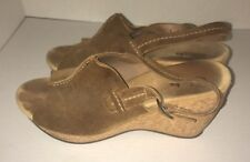 Clarks Elements Harwich Middy 85611 Brown Cork Wedge Sandal Size 8