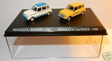 COFFRET ATLAS DUO 2 METAL UH HO 1/87 RENAULT 4 R4 4L JOGGING 1981 LA POSTE 1989