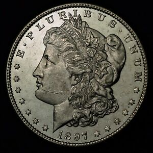 1897 $1 MORGAN SILVER DOLLAR PROOF LIKE UNITED STATES COIN