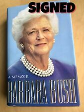 BARBARA BUSH First Lady SIGNED Memoir from Kennebunkport Maine Booksigning