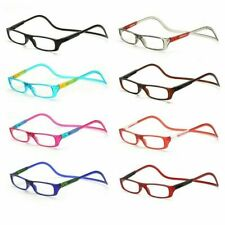 Adjustable Magnetic Reading Eyeglasses Front Click Connect Neck Hanging Glasses