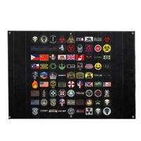 "LIVABIT Tactical Gear Panel Organizer Patch Display Blanket 39"" x 27.5"" Black"