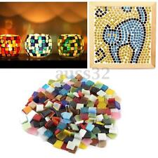 200g/Pack Home Decoration Mixed Color Tumbled Stained 1cm Glass Mosaic Tiles