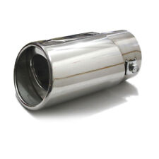 Car SUV Exhaust Trim Tip Muffler Pipe Silver Chrome Tail Throat Pipe Accessories