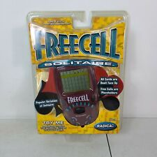 New Radica Freecell Solitaire Electronic Handheld Travel Game 8019