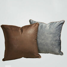 45CM PU Cushion Covers Faux Leather Pillow Cover Sofa Vintage Style Pillowcase