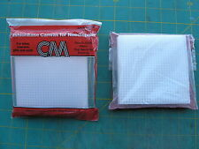 """4"""" Square Plastic Canvas Needlepoint Fastionease 10  pac VintageClumbia Minerva"""