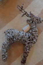 2 Pottery Barn  Christmas Glitter twig Reindeer small New tag