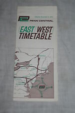 Vintage Penn Central Railroad East West Timetable Nov. 8, 1970