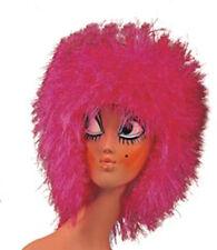Perruque années 1980 disco ébouriffée rose fuchsia  theatre deguisement carnaval