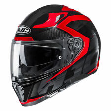 HJC i-70 Asto Red and Black Motorcycle Full Face Helmet