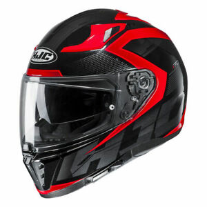 HJC i-70 Asto Red and Black Motorcycle Full Face Helmet Small