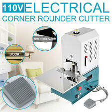 110v Electric Round Corner Cutter With 7 Dies R3 R10 Corner Rounding Machine