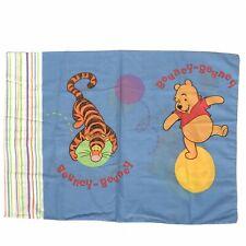 Winnie The Pooh Bouncy-Bouncy Piglet Tigger Standard Blue Pillowcase