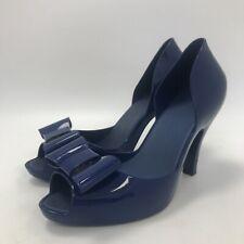 Melissa Heels Size UK6 EU39 11.5cm Lift Blue Bow Front Open Side Women's 311466