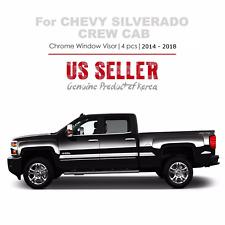 Chrome Window Vent Visors Rain Guard for Chevy Silverado 1500 Crew Cab 2014-2018