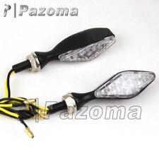 Motorcycle Dual Sport Dirt Bike LED Amber Turn Signals Lights Blinker Universal